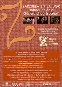 """Taller Zarzuela en la UGR : Introducción al género lírico español"""""""