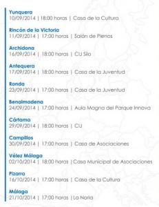 Lista de talleres Erasmus en la provincia de Málaga