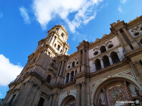 Torre de la Catedral de Málaga desde la Plaza del Obispo