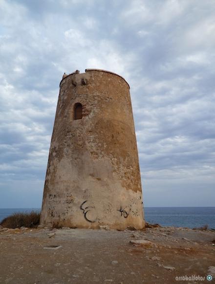 Torre de Las Palomas en La Playa de la Araña de Málaga