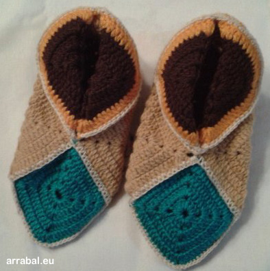 Crochet slippers for around the house