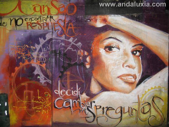 Cansado de no encontrar respuestas, decidí cambiar las preguntas... Grafiti en Granada