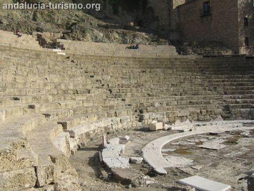 Cavea de teatro Romano de Malaga