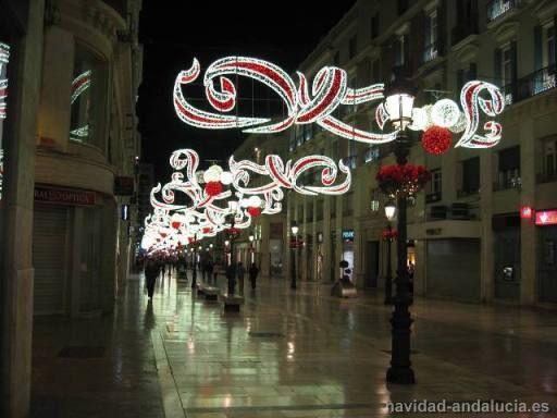 Foto del Alumbrado navideño de Calle Larios en la Navidad 2009