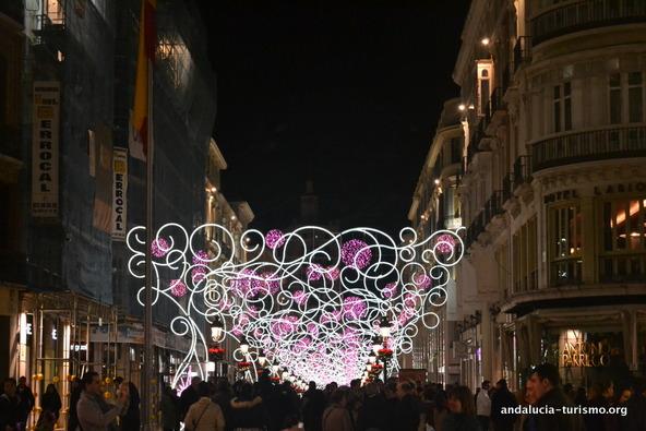 Calle Marques de Larios Malaga navidad 2012