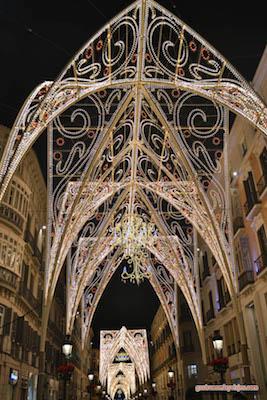 Calle Larios de Malaga en Navidad