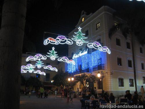 Ayuntamiento en la navidad de Almuñecar