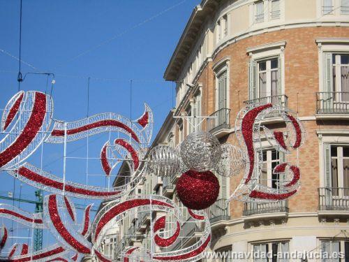Alumbrado de Navidad en la calle Larios de Malaga en 2010