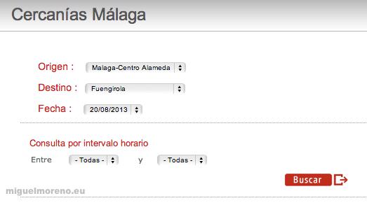 horarios de trenes de cercanias de fuengirola a malaga 2013 #9