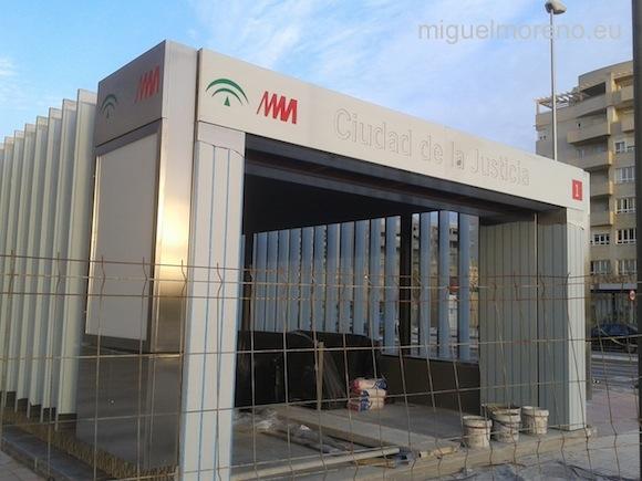 Parada del Metro de Málaga de la Ciudad de la Justicia