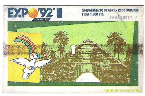 Entrada de la Expo 92 de Sevilla