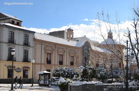 Sede del Consejo Consultivo de Andalucía en la nevada de 2013