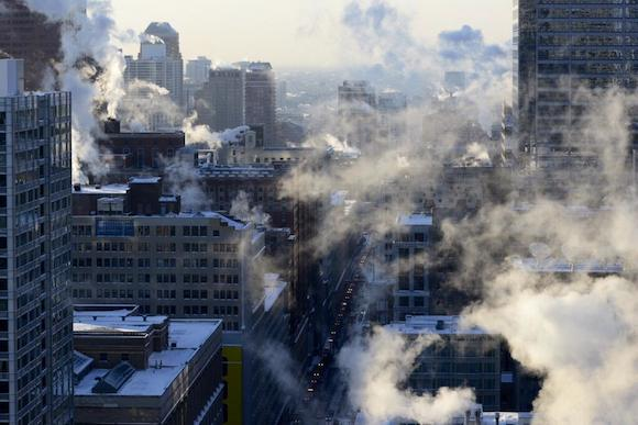 #polarvortex en Chicago