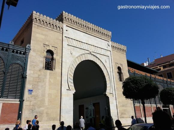 Puerta Nazarí del Mercado de Atarazanas de Málaga