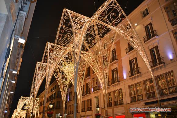 Alumbrado de Navidad 2014 en Calle Larios de Málaga
