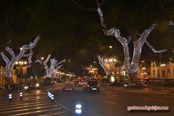 Luces de Navidad en la Alameda Principal de Málaga
