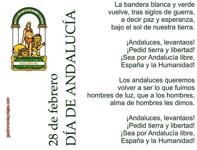 28 de Febrero - Día de Andalucía - letra del Himno Andaluz