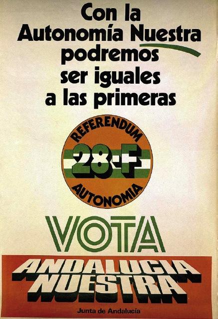 Cartel del referendum del 28 de Febrero para la autonomía de Andalucía