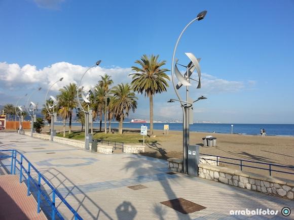 Farolas del proyecto Smartcity Málaga
