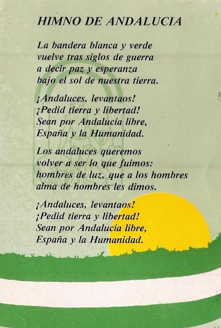 Himno de Andalucía con la bandera de Andalucía