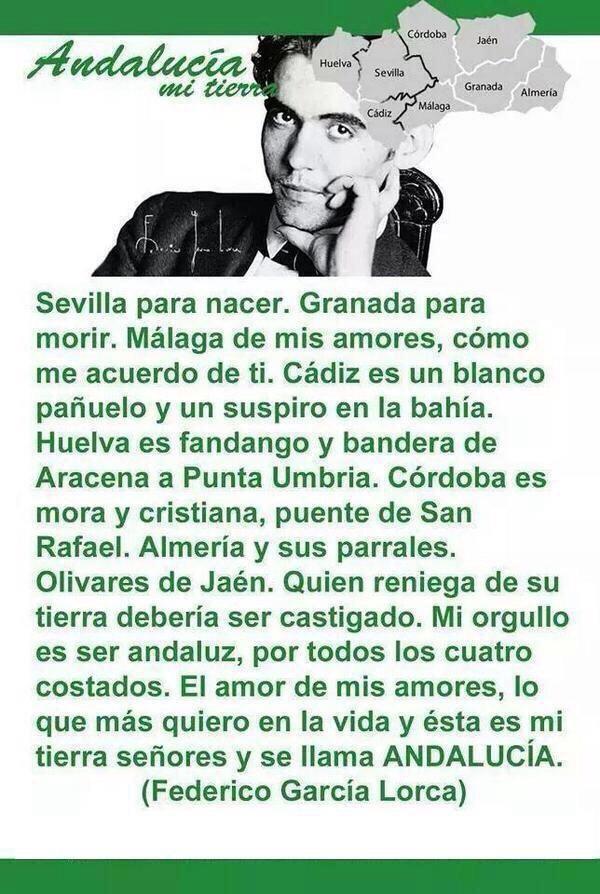Sevilla para nacer. Granada para morir. Málaga de mis amores