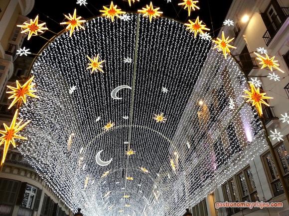 Alumbrado de Navidad en la calle Larios de Málaga