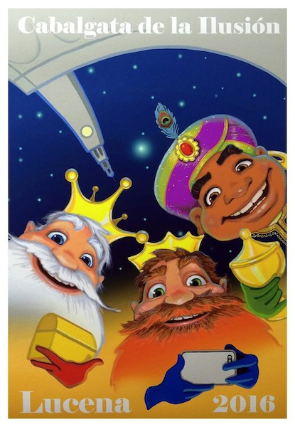 cartel de la Cabalgata de Reyes Magos de Lucena 2016