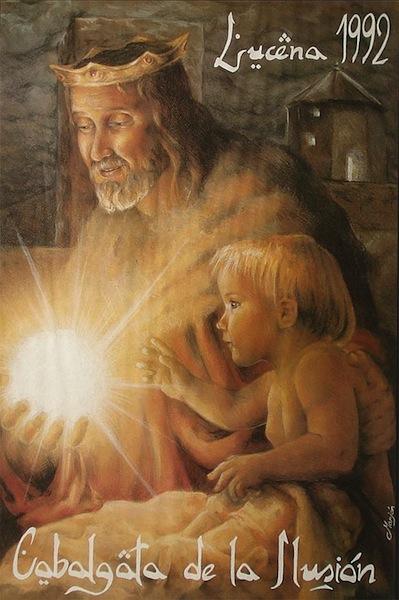 Cartel de la Cabalgata de Reyes Magos de Lucena 1992