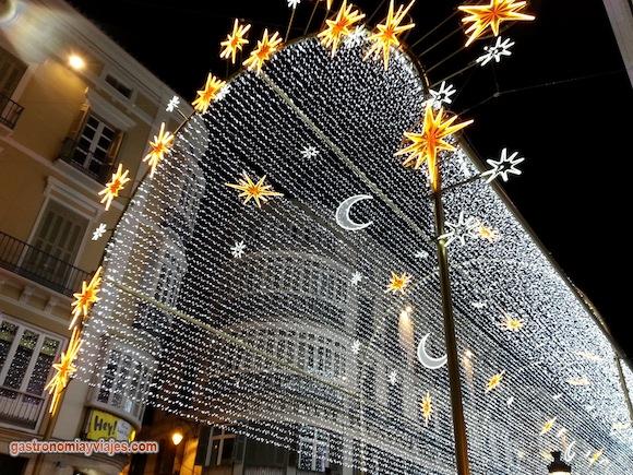 Christmas lighting in Malaga