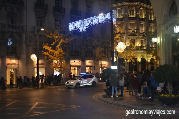 Luces de Navidad en la Gran Vía de Granada