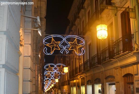 Alumbrado de Navidad en la calle Zacatín de Granada