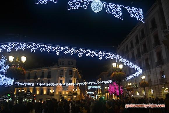 Alumbrado de Navidad 2015 en la Puerta Real de España