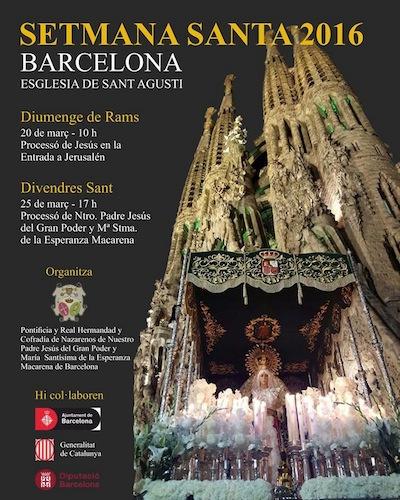 Semana Santa 2016 en Barcelona