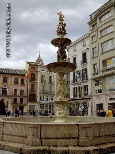 Fuente de Génova en la Plaza de la Constitución de Málaga