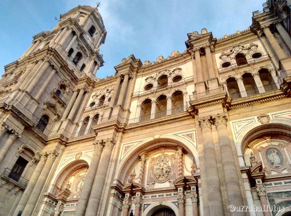 Vista de la Catedral de Málaga desde la Plaza del Obispo
