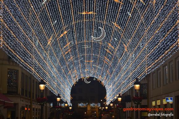 Alumbrado de Navidad de Málaga 2016 en calle Larios