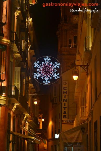 Alumbrado de Navidad de Málaga 2016 en calle Larios - Chinitas