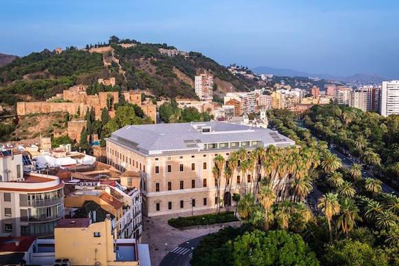Vista aerea del Palacio de la Aduana