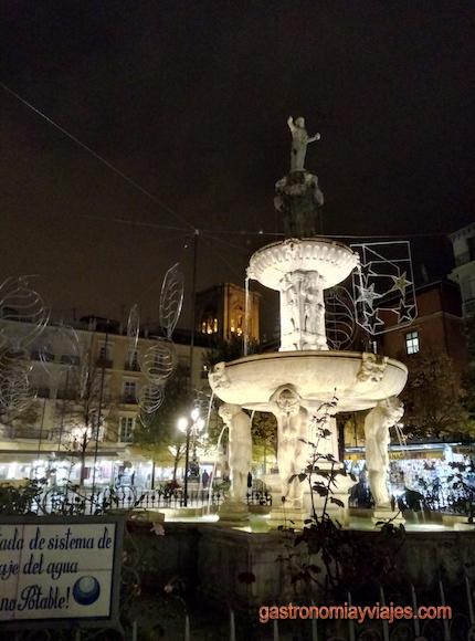 Plaza Bib rambla de Granada en Noviembre de 2016